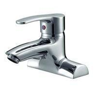 Buy cheap Single Handle Double Hole Brass Basin Faucet Mixer from wholesalers