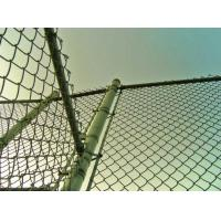 China Heavy Duty  9gauge 50x50mm ral 6005 Green color steel wire Chain Link Fence with Brace for Highway Fence on sale