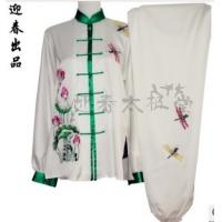 Best women wushu clothing with lotus and dragonfly wholesale