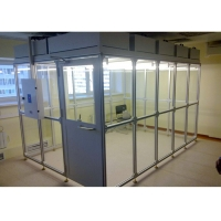 Buy cheap OEM Aluminum Profile Frame Softwall Clean Room ISO 5 ISO 7 Dispensing Booth from wholesalers