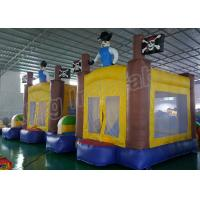 China Outdoor Playground Pirate Inflatable Kids Jumping Castle Yellow And Blue on sale