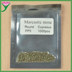 Best wholesale price AAA grade pp5 round shape loose marcasite gemstone wholesale