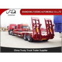 2 axles lowboy low bed truck semi trailer 30 ton 40 ton with spring ladder
