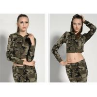 Fashionable Womens Military Dress Threaded Cuffs And Hem With Non - Detachable Hat