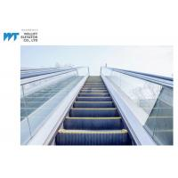 Best Glass / Stainless Steel Balustrade Outdoor Escalator With Comb Plate Safety Devices wholesale