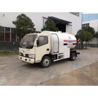 Best 2.5MT Bobtail Propane Truck , Dongfeng 4X2 Small Cylinder Filling Fuel Bowser Truck wholesale