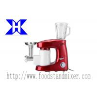 Best Spray Red ABS plastic Multifuntion Stand Mixer 1000W With Meat Grinder , Blender wholesale
