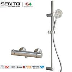 China Multifunction thermostatic rain shower head shower bath faucet set on sale