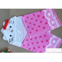 Buy cheap Cute Velour Full Reactive Hooded Poncho Towels For Toddlers 21s product