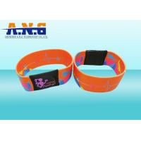 China Mifare 1k Printing elastic fabric rfid wristband bracelet for waterpark on sale