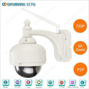 China 3x Zoom Wireless Night Vision Outdoor Waterproof PTZ IP Camera on sale