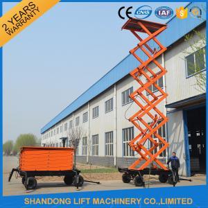 Best High Raising 4 Wheel Aerial Work Platform ,  CE 18m Hydraulic Electric Mobile Scissor Tables wholesale