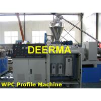 Best Electric Control WPC Production Line Wood Plastic Composite Decking Making Machine wholesale