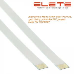 Best Alternative to Molex 0.5mm pitch 10 circuits, gold plating, premo-flex FFC jumpers Molex PN 150200097 wholesale
