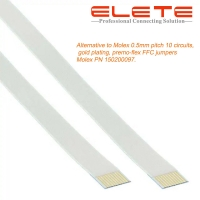 Buy cheap Alternative to Molex 0.5mm pitch 10 circuits, gold plating, premo-flex FFC from wholesalers