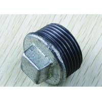 China Galvanized Threaded Malleable Pipe Fittings Plugs Cover on sale