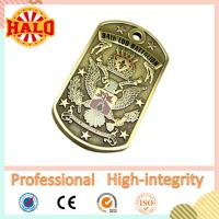 Buy cheap Zinc alloy casting archaistic custom military dog tag engraver product