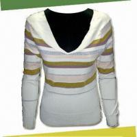 Best Women's Pullover Knitwear, Made of 70% Viscose,15% Acrylic, 15% Polyester wholesale