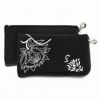 Best Mobile Phone Pouch, Made of Velvet, with Zipper Slider and Lanyard, Ideal for iPhone 4 wholesale