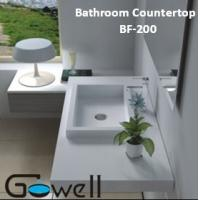 China one piece bathroom sink and countertop on sale
