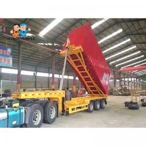 China Strenthened Headboard CQC Sandstone Tipper Truck Trailers on sale