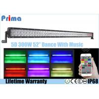 China 5D RGB Remote Control LED Light Bar For Trucks 52 Inch 300W Remote Control on sale