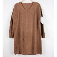 Best Long Knit Dresses Women Cable Knit Sweaters Loose Pullover V Neck wholesale