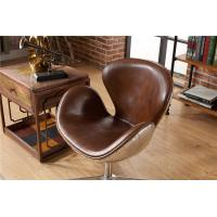 Buy cheap Industrial Loft Leather Office Swan Chair Thick Aluminium Sheet Full handwork from wholesalers