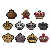 Best Indian silk diamond monkey crown hand embroidered sequin beaded uniform shoes badge patch wholesale