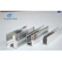 Best Shower Enclosures Mirror Surface Extruded Aluminium Profiles With Color Silver wholesale