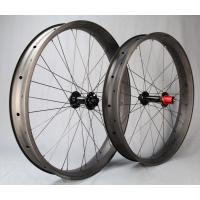 Cheap 32 Holes Carbon Fat Snow Bike Wheels 26 Inch Tubeles Rims 90mm Width 25mm Depth for sale