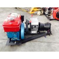Portable Cable Winch Puller Cylindrical Shape With Water Cooled Diesel Engine