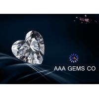 China High Level Heart Synthetic Diamond Moissanite , Colorless Moissanite on sale