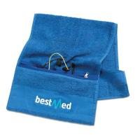 Best Wholesale Personalized Cotton Sports Fitness Gym Towel with Zipper Pocket wholesale