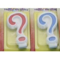 Cheap !Question Mark !White Egde Question Mark Shape Candles  with 2 Colors Filling-in for sale