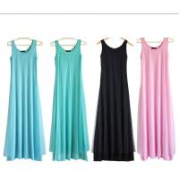 Best O Neck Teal Pink Womens Summer Maxi Dresses Mesh Veils Strappy Prom Dresses wholesale