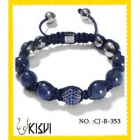 Best 2012 hot selling shiny polish / satine beaded crystal bracelets for gift, party, ornament wholesale