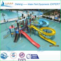 Buy cheap Multi-Level Platforms Waterpark Equipment , Attractive Water Play Slide from wholesalers