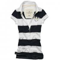 China Stretch Cotton Mesh Red And White Striped Polo Shirt For Women 150g - 260g on sale