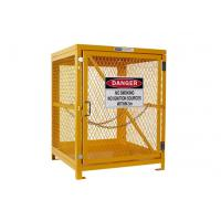 Best Yellow Gas Cylinder Storage Cages Used For Gas Tank And Cylinder Locker wholesale