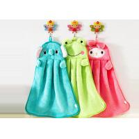 China Cute cartoon kitchen super absorbent hanging towel non-hairing thick coral fleece towel on sale