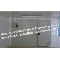 China Fire resistant Walk in Fridge Made Of Sandwich Panel With Sliding Door Cooler Box on sale