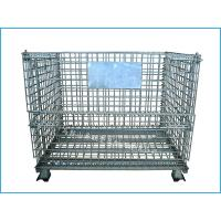 Best Steel foldable storage cage with rubber foot cover to protect the floor wholesale