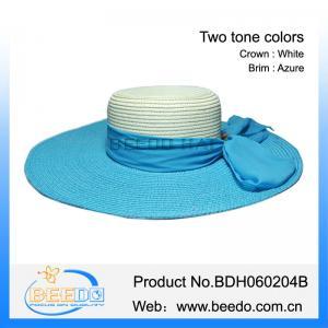 Best Classical fashion women 100% paper braid straw floppy hat wholesale