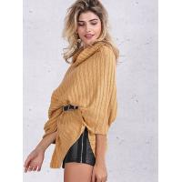 Best Turtleneck Fashion Pullover Sweaters Cable Knit Pullover Womens Capes And Cloaks wholesale