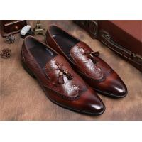 Cheap Brogue Wingtips Toe Mens Slip On Tassel Shoes , Male Formal Shoes For Suits for sale