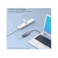 Best 100W PD 4 Port USB 2.0 USB Type C Docking Station With OTG Adapter Cable wholesale