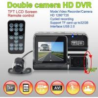 China 2.0inch 120 Degree Wide angle Dual Lens car dvr recorder on sale