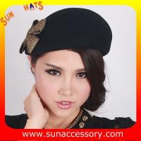 Best T5631185 Sun Accessory customized  winner  fashion 100% wool felt  beret, women hats and caps wholesaling wholesale