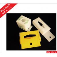 Best Hotel Rectangle Recycle Acrylic Tissue Box Holder White Color wholesale